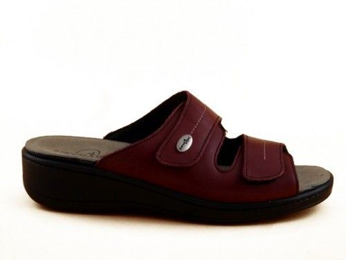 Slipper Leder Bordeaux