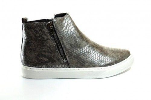 Sneaker Chelsea Croco Zilver