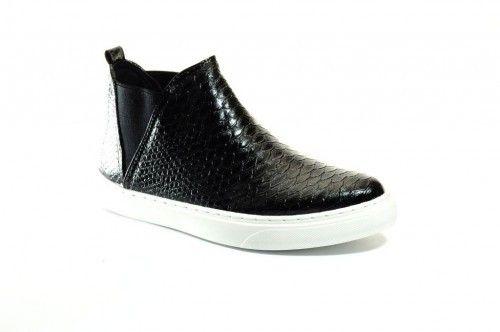 Sneaker Chelsea Croco Zwart