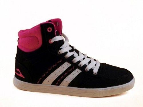Sneaker Dames Zwart Fuxia