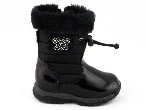 Sneeuwbotten Kinderen Meisjes Zwart One Step
