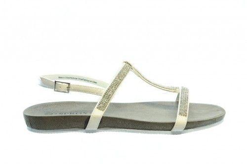 Witte Sandalen Plat Elegant