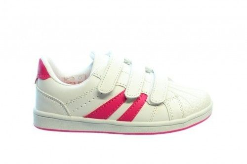 Witte Sneaker Roze Strepen