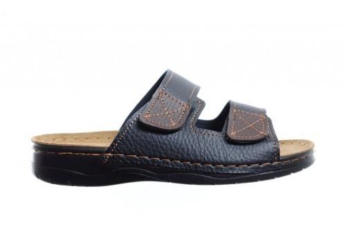 Zwarte 2 Band Slipper Heren Met Velcro - Slippers ...