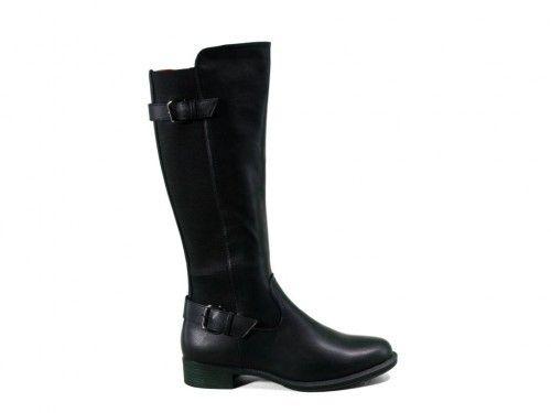 Zwarte Lange Laarzen Met Rek