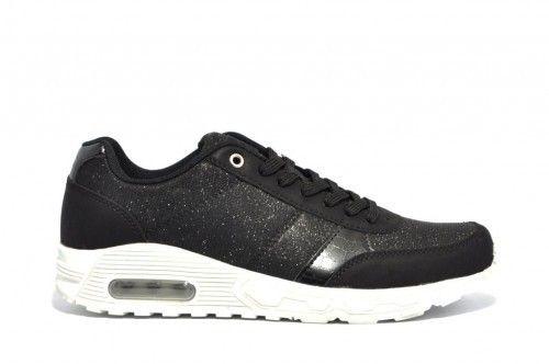 Zwarte Sneaker Witte Zolen