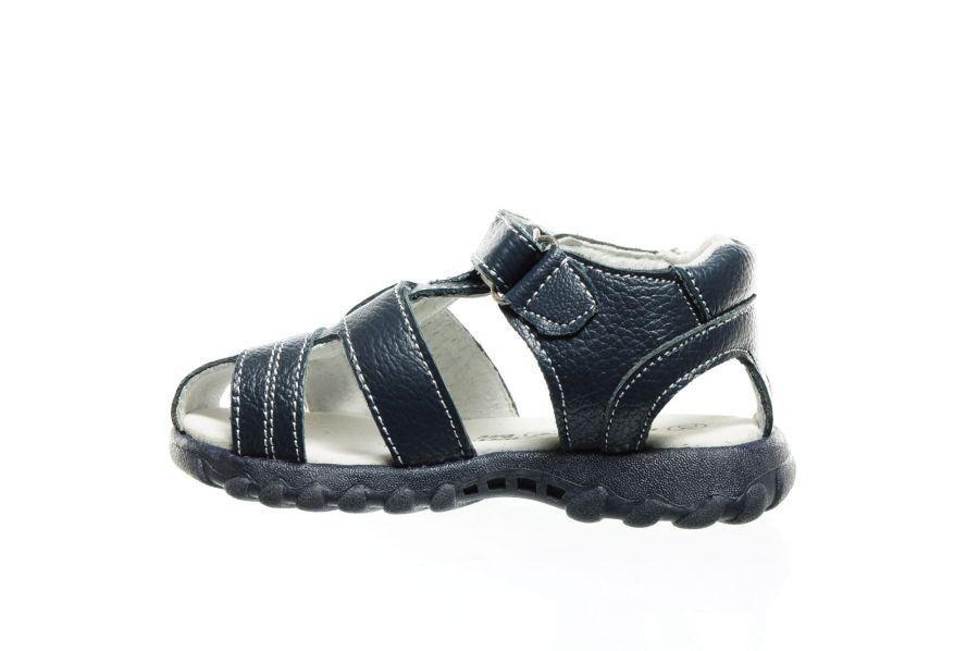 Bébé Sandales En Cuir Bleu Fermé 7Mzz1