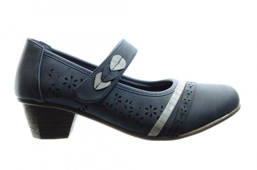 Blauwe Comfortabele Geklede Pump - Pumps - Damesschoenen ...