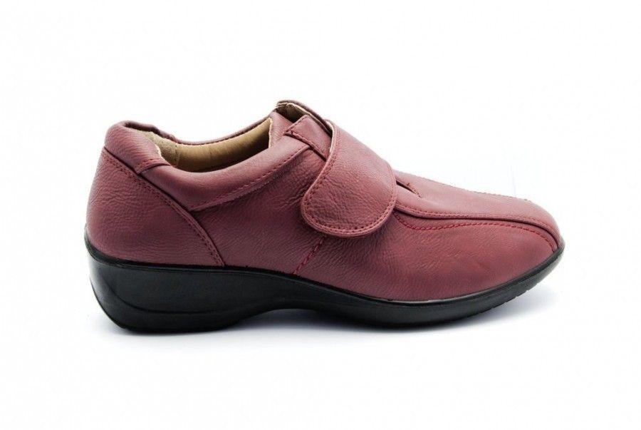 Damesschoen Schoenen Rood Comfort Velcro Damesschoenen wAt4zqF