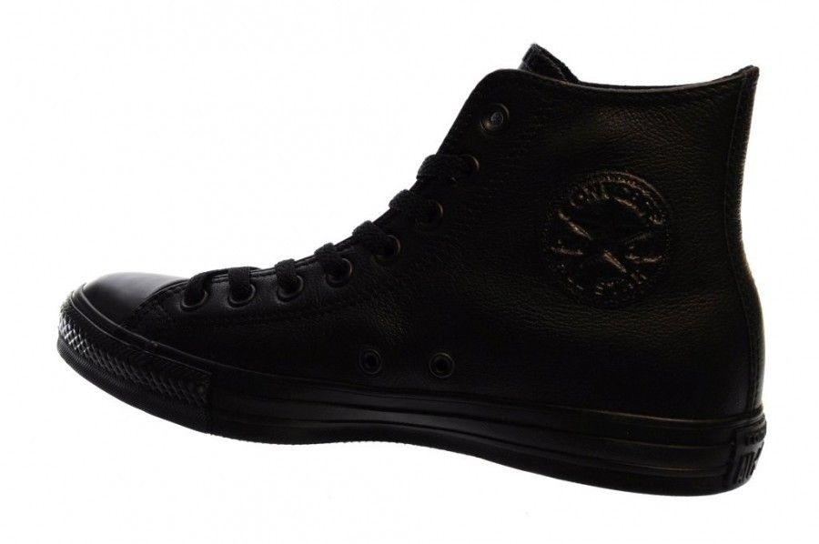 Converse Zwart Leder Hoog Black Mono Hi