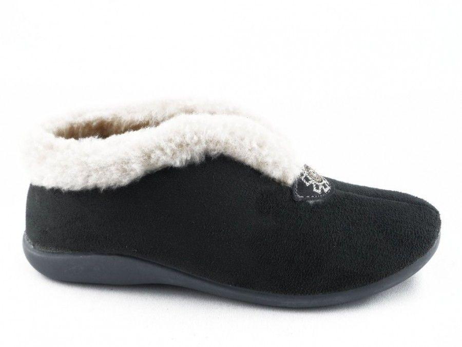 Femmes Pantoufle Gris Et Velcro X85NfQ