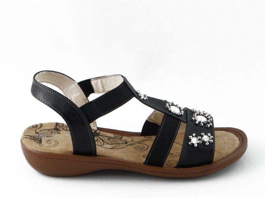 Femmes Sandale Pas Facile Noir UUb7E
