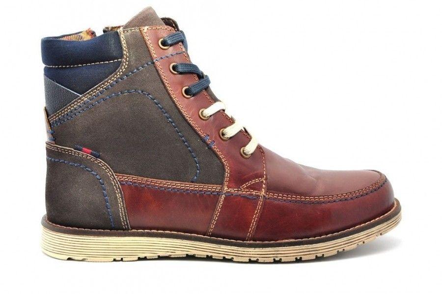 Cuir Brun Foncé Haut Chaussures Pour Hommes bFigVfL