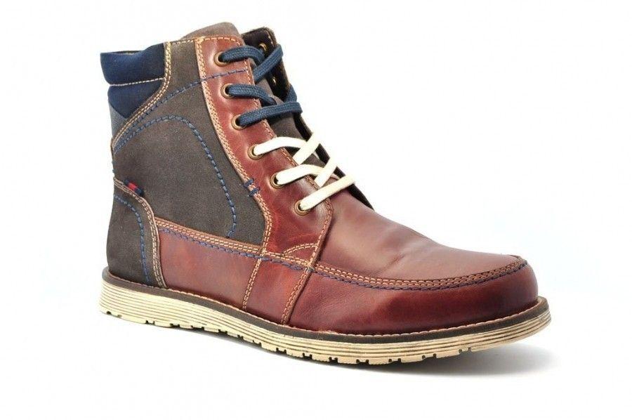 Cuir Brun Foncé Haut Chaussures Pour Hommes 3Qap3ie