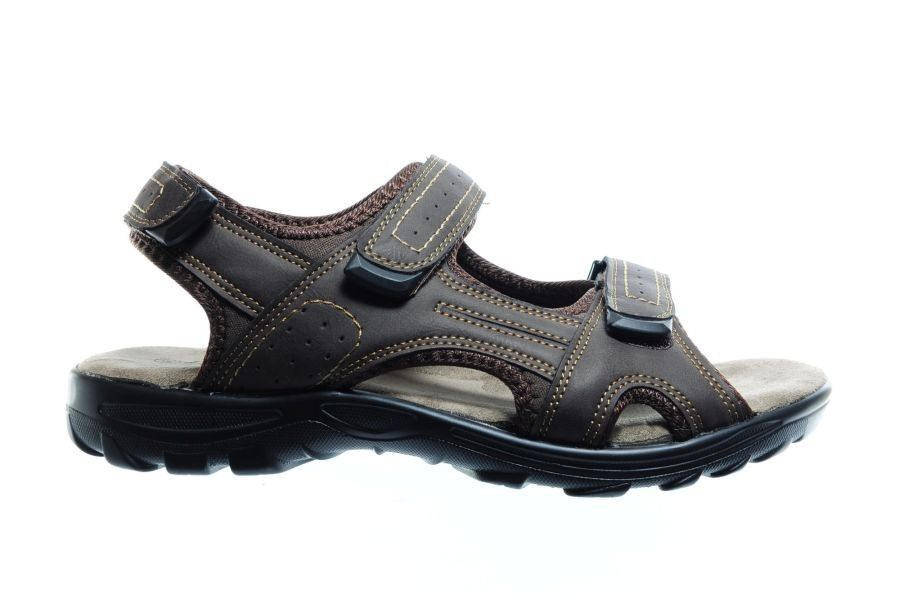 Sandales Velcro Marron Hommes QB6yB