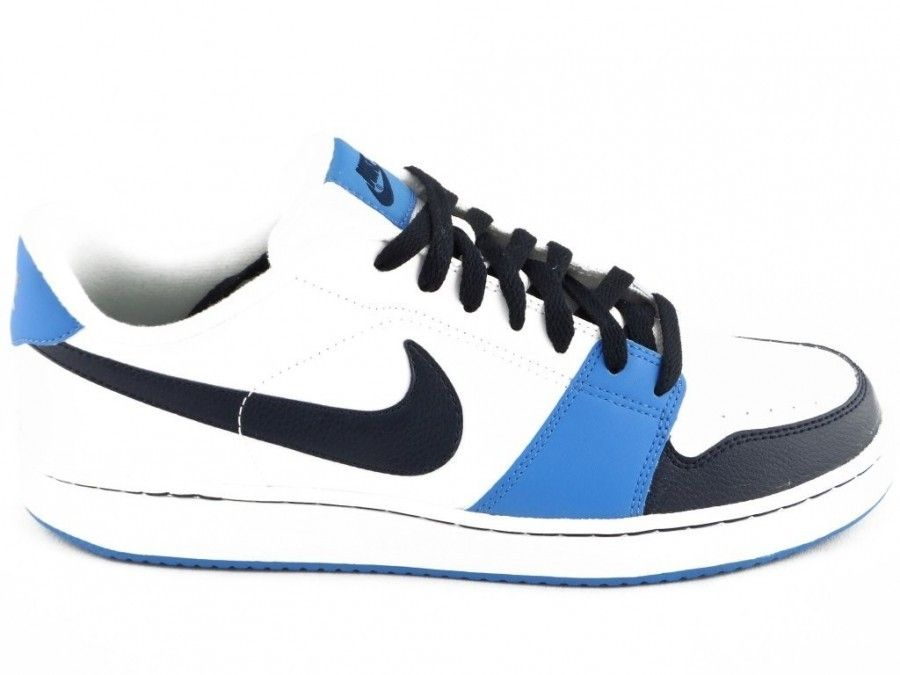 Wonderlijk Herenschoen Nike Wit Blauw - Veterschoenen - Herenschoenen ZZ-52