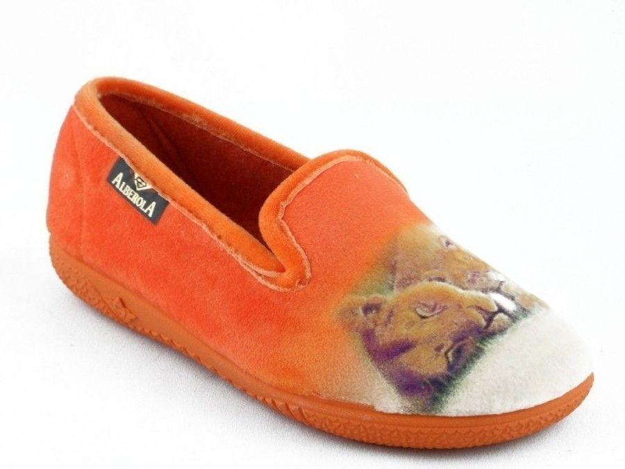 Enfants Pantoufle Lion Tigre Orange XmPbLQ