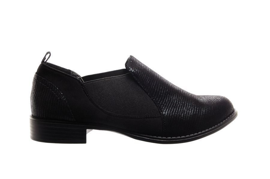Korte Schoenen Damesschoenen Zwarte Instapper Chelsea Nette qwFqrI8