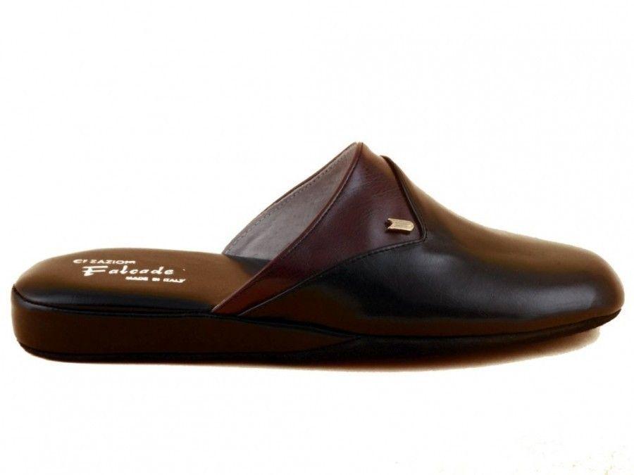 Pantoufles Hommes Pantoufles En Cuir Noir F8x8k