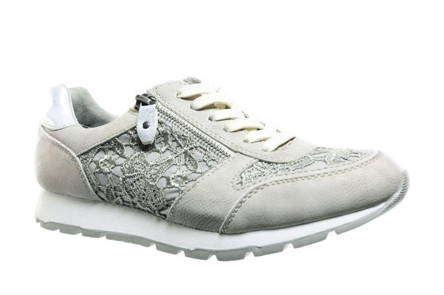 Sneakers Met Licht : Sneaker met kant licht grijs sneakers damesschoenen modashoes