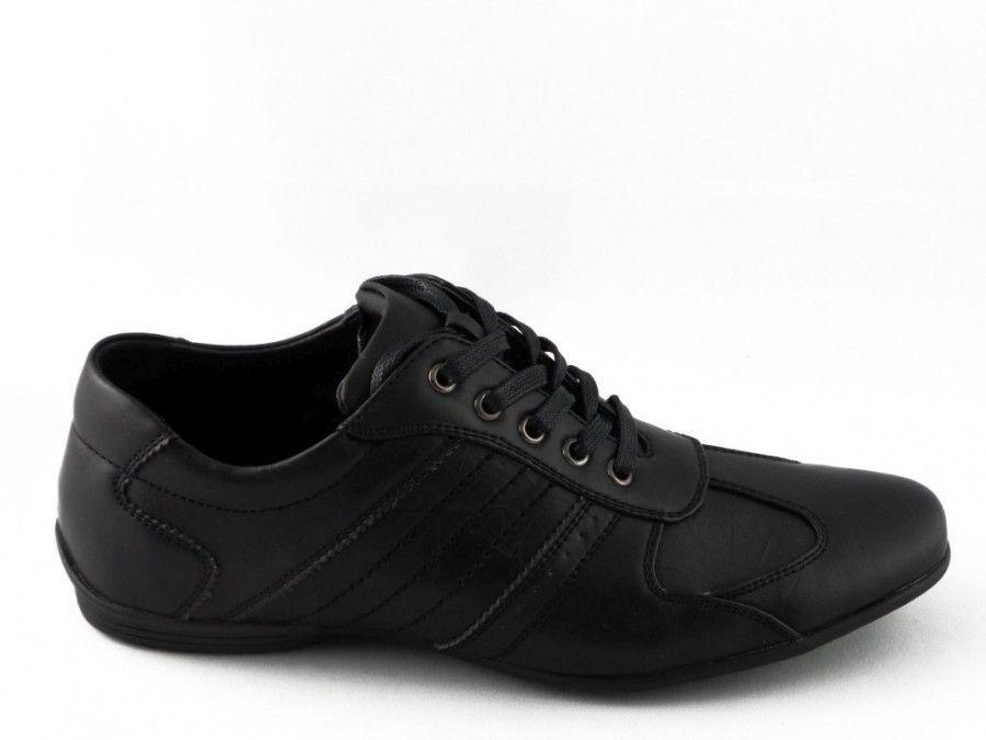 Hommes De Chaussures En Dentelle Noire Manhattan 9DkICL
