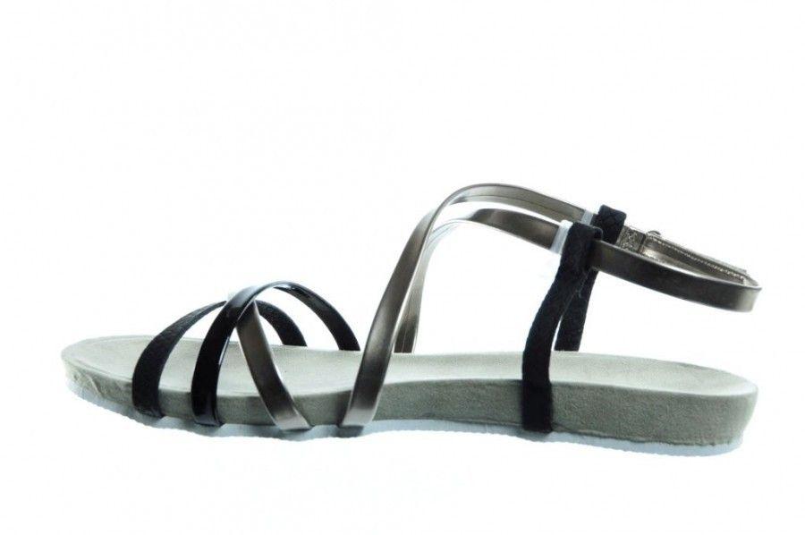 Femmes Noires Sandales Plates luzi5e8SJ