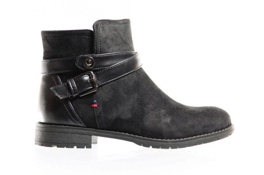 Verwonderend Zwarte Stoere Korte Laarzen - Enkellaarzen - Damesschoenen AB-61