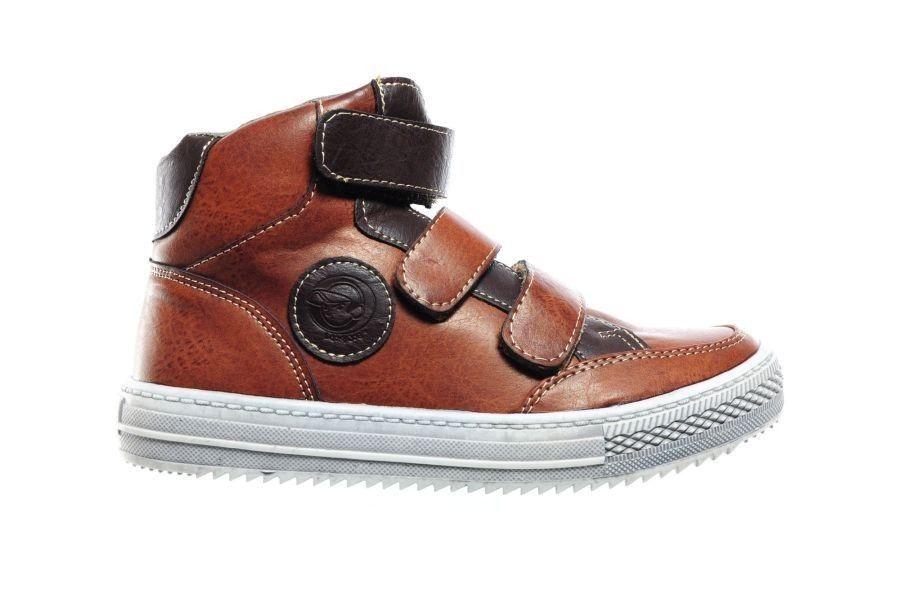 Kinderschoenen.Kinderschoenen Cognac Velcro Kinderschoenen Modashoes Nl