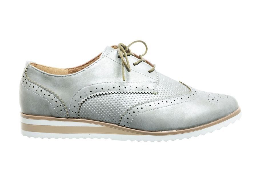 zilver brogues schoenen dames fashion - sneakers - damesschoenen
