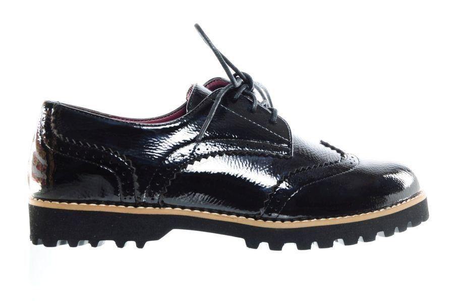 zwart lak veterschoenen dames brogues - veterschoenen