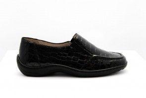 Ara Kroko Lack Zwart