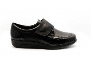 Ara Kroko Lack Zwart Velcro