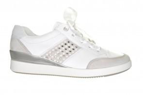 Ara Witte Sneaker Met Satijnen Veter