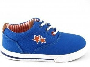 Babyschoen Canvas Blauw One Step