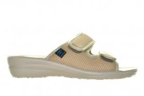 Beige Slippers Velcro Fly Flot