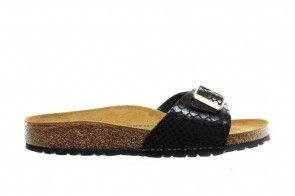 Birkenstock Madrid Shiny Snake Black