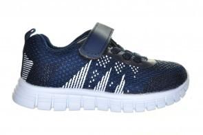 Blauwe Goedkope Sportschoen Met Velcro