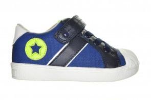 Blauwe Kinderschoen Met Bumperneus Velcro