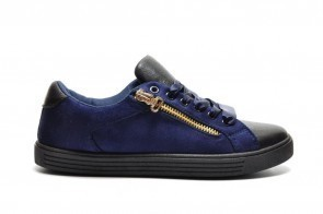 Blauwe Sneaker Gouden Rits