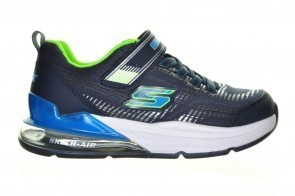 Blauwe Stoere Lycra Jongensschoen  Velcro Skechers
