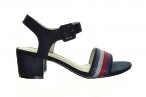 Blauwe Trendy Sandalen Met Hak Sprox