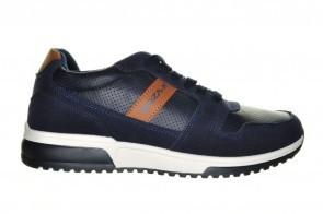 Blauwe Trendy Sportieve Veterschoen