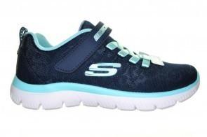 Blauwe Velcro Comfort Sneaker Skechers