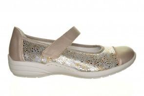 Bronzen Lycra Ballerina Velcro En Rekstof Remonte