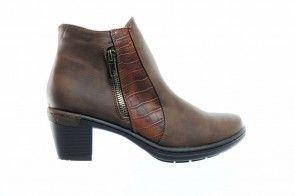 Bruine Enkelllaarzen Rits