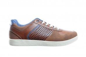 Bruine Sportieve Moderne Herensneaker Met Veter