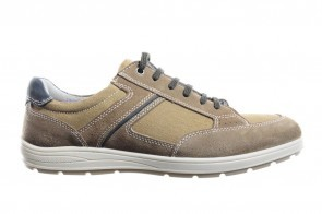 Canvas Sneaker Heren Taupe Veterschoen