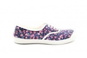 Cebo Sneaker Bloemen Blauw