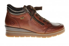 Cognac Sneaker Wedge Remonte