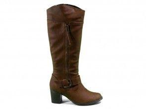 Dames Lange Laarzen Natural